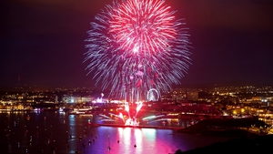Fireworks explode over Plymouth as part of the annual British Firework Championships