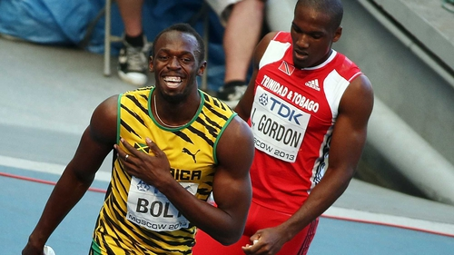 It was all smiles for Usain Bolt as he did what he had to do in the 200m heat