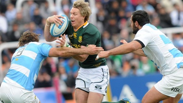 Jean de Villiers was among the tries for South Africa