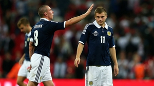 Celtic's Scott Brown and James Forrest started against England