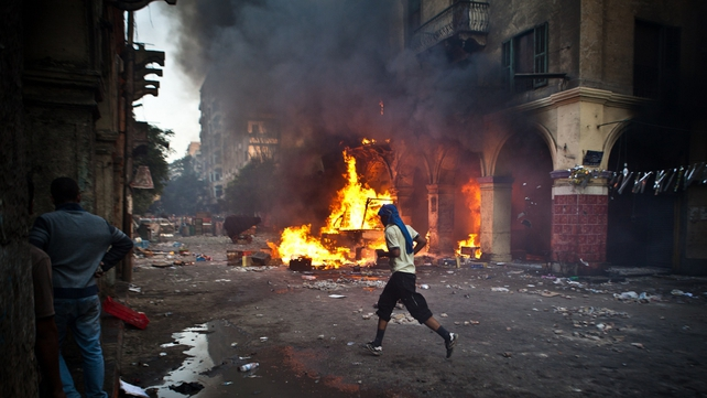 Violence returned to the streets of Cairo today