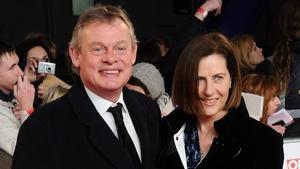 Martin Clunes (here with his wife Phillippa) will star as Sherlock Holmes' creator Arthur Conan Doyle
