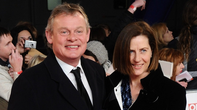 Martin Clunes (here with his wife Phillippa) will star as Sherlock Holmes' creator Arthur Conan Doyle