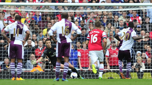Christian Benteke saw his penalty saved by Wojciech Szc