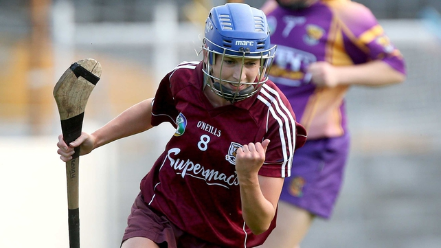 Galway's Niamh Kilkenny celebrates scoring the only goal of the game