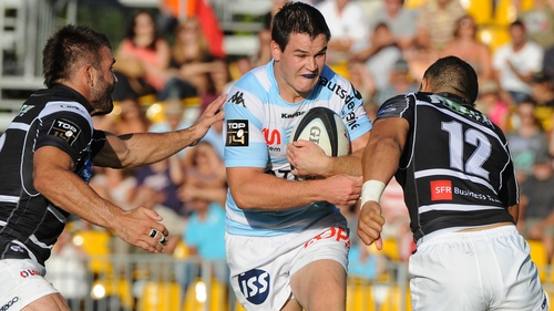 Jonathan Sexton converted three of his six penalty attempts against Brive on his competitive debut for Racing Metro