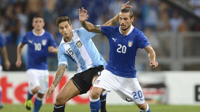 Pablo Osvaldo featured for Italy against the country of his birth in a midweek international friendly