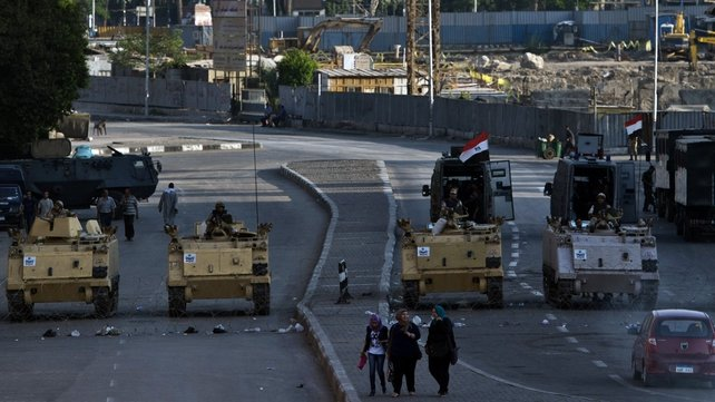 Egypt's army have maintained a strong presence around Tahrir Square