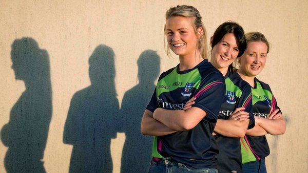 Monaghan's Caoimhe Mohan, Therese McNally and Ciara McAnespie
