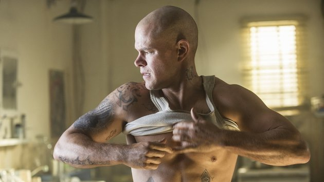 Damon was happy to shave his head and bulk up in the gym for the role