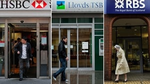 Barclays, HSBC, Lloyds Banking Group and Royal Bank of Scotland are the biggest banks in the UK
