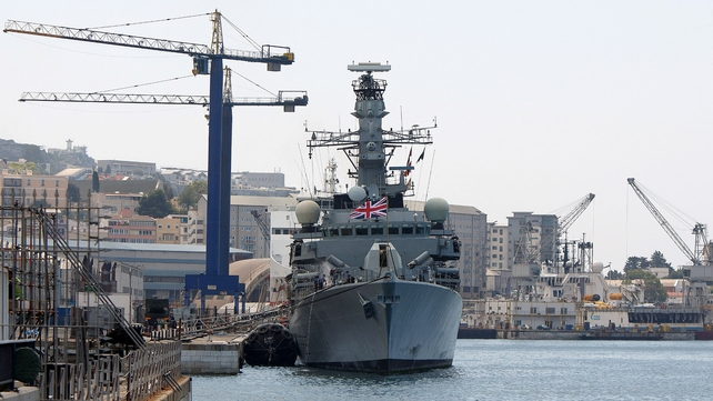 The frigate HMS Westminster docked in port this morning