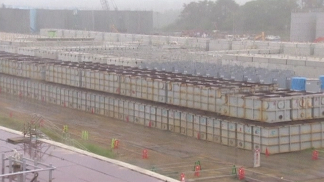 The storage tanks which are used to store contaminated water at the site