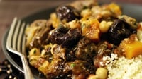 Lamb, California Prune and Butternut Squash Tagine  - The following recipe for Lamb, California Prune and Butternut Squash Tagine serves four and can be made from ingredients found in Aldi's 101 Irish stores.