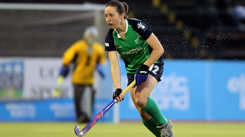 Lisa Jacob missed a chance to level things with a penalty for Ireland