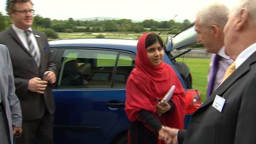 Malala was left fighting for her life after she was attacked by Taliban gunmen last October