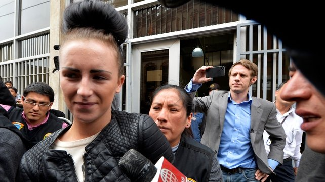 Michaella McCollum has not yet been charged