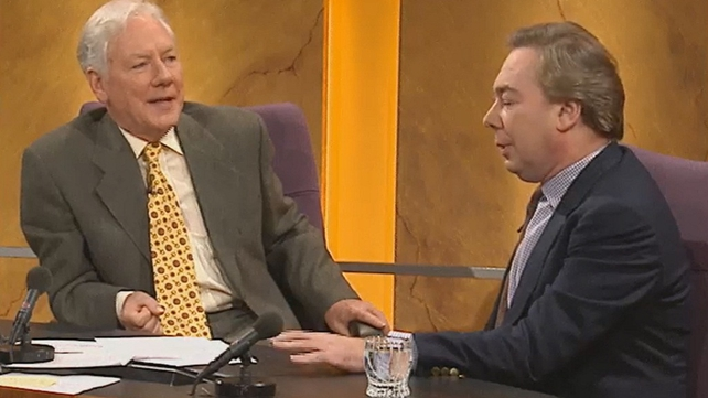 Gay Byrne and Andrew Lloyd-Webber (1998)