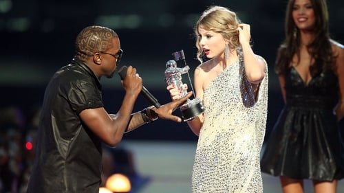 Kanye West interrupting Taylor Swift at the 2009 VMAs