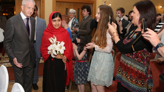 Malala appealed to governments to change their laws that discriminate against women and children