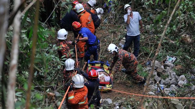 Bus fell around 30 metres into a ravine