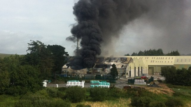 The fire broke out just before 10am (Pic: Louise Mason Tiernan)