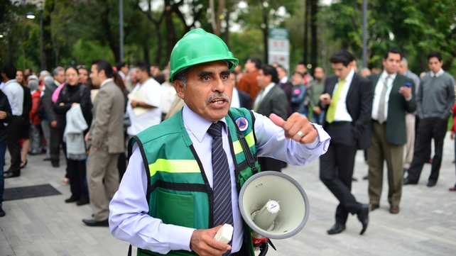 Buildings were evacuated in Mexico City following the earthquake