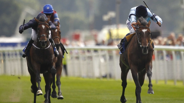 Telescope (r) ran out an impressive winner in the hands of Ryan Moore