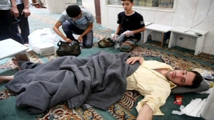Activists said government forces launched a nerve gas attack