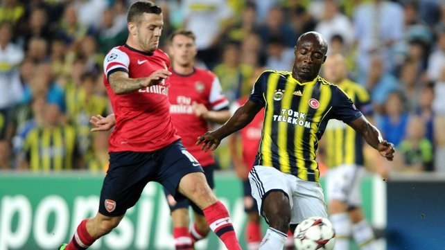 Arsenal hold a 3-0 lead over Fenerbahce