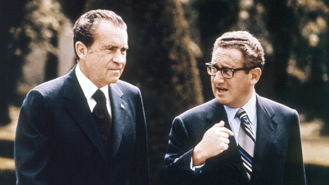 Conversations between Mr Nixon and Henry Kissinger (R) are included in the release