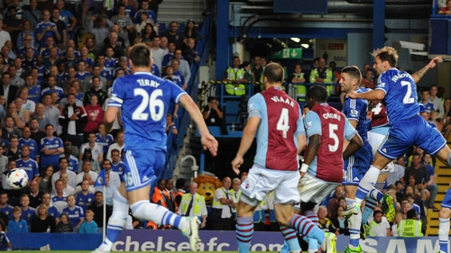 Branislav Ivanovic heads home Chelsea's winner