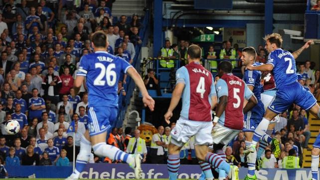 Branislav Ivanovic heads home Chelsea's winner