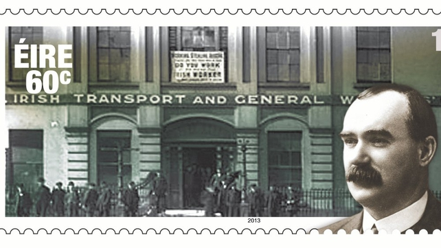 Specially produced stamps to commemorate the centenary of the 1913 Dublin Lockout
