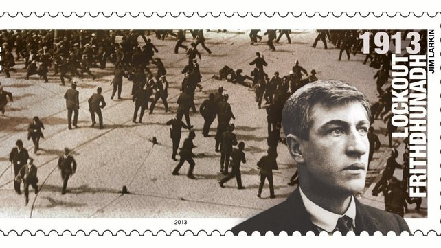 The Bloody Sunday riot is depicted on the James Connolly stamp