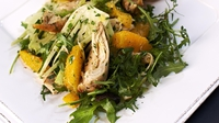 Chicken, Fennel and Orange Salad with Pinwheels  - Rachel Allen serves up this delicious starter on Rachel Allen's Everyday Kitchen.