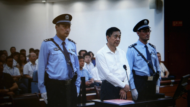 Bo Xilai appearing in court on bribery and corruption charges