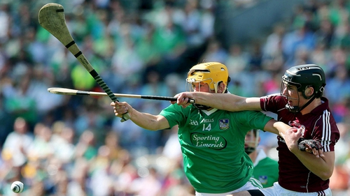 Tom Morrissey and Darragh O'Donoghue in action in the minor semi-final