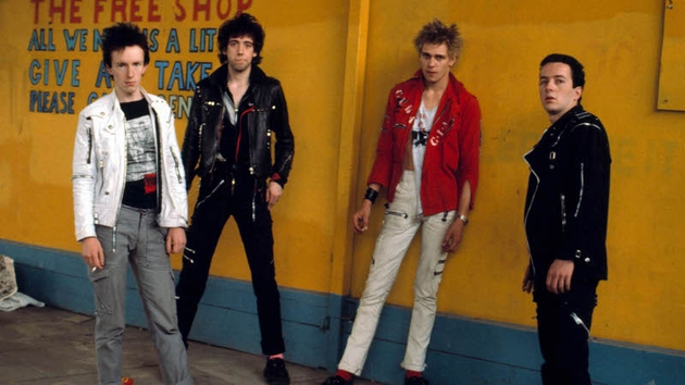 The Clash with the late great Joe Strummer (far left)