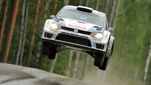Sebastian Ogier in his Volkswagen