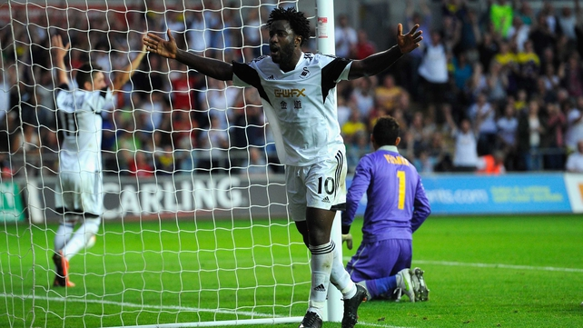 Wilfried Bony was among the Swansea scorers