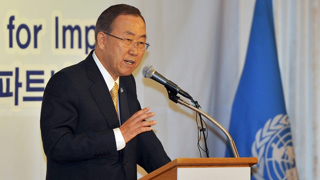 Ban Ki-moon said he could think of no reason for either side not to get to the truth of the matter