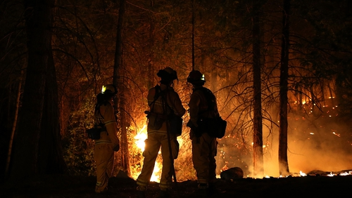 Wildfire continues to rage out of control despite army of fire-fighters battling to stop it