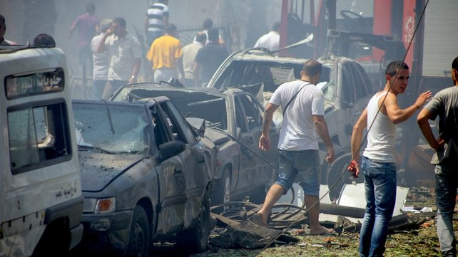Cars and buildings were badly damaged in the explosions