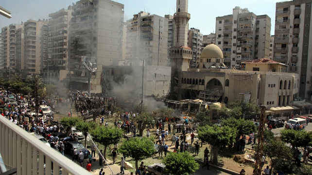 Hundreds of people gathered at the scene of the al-Taqwa mosque blast