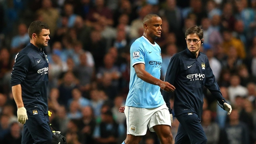 Vincent Kompany is out for a month