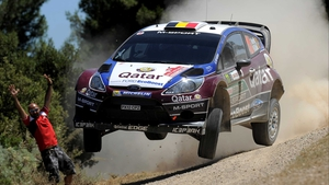 Thierry Neuville trails by 7.3 seconds