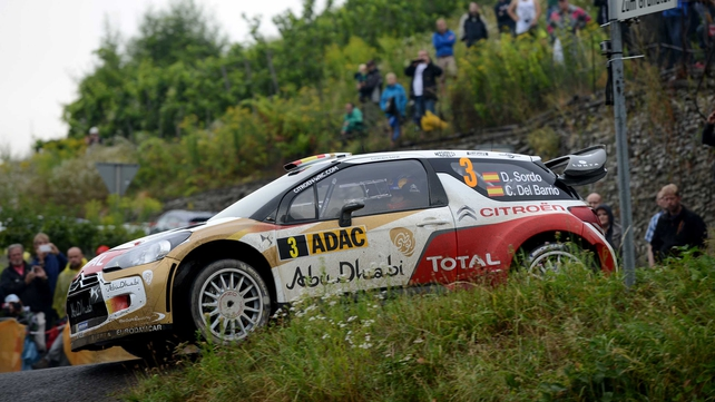 Dani Sordo has a narrow 0.8secs lead over Belgian Thierry Neuville