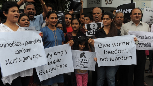 There were protests in Mumbai over the incidence of violence against women following the incident
