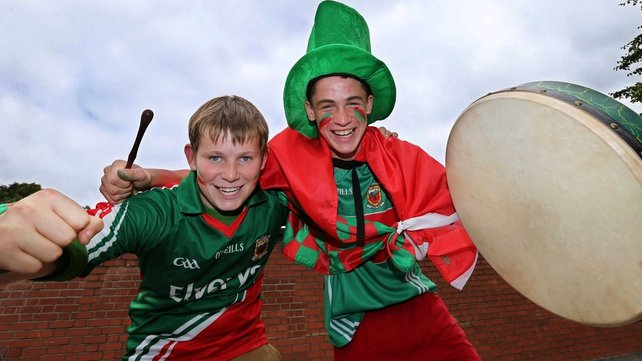 Mayo fans getting into the mood